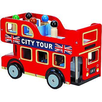 Playset bus tour città di legno
