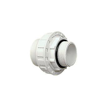 "Praher 150-903 1.5"" SKT x MIP PVC Union with O-Ring"