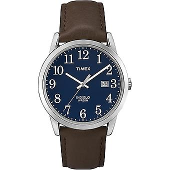 Timex TW2P75900 Mens Easy Reader Watch with Gold-Tone Case & Brown Leather Strap