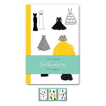 Fashionista Blank Notebooks  Set of Three 48Page Blank Notebooks by Julia Kuo