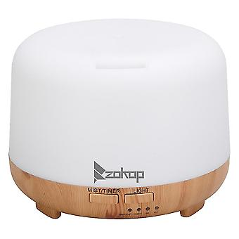 220v超音波アロマテラピーディフューザー450mlエッセンシャルオイルカラフルなRgbライトディフューザーポータブルコールドフォグ加湿器、英国プラグ付き(白)