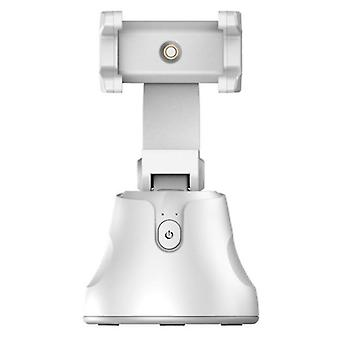 Auto Face Tracking Smart Shooting Phone Camera Holder 360 Rotation Stand(White)