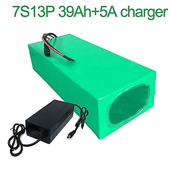 Battery With Charger 5a 9ah 24v 25.9v Li-ion 18650 Rechargeable Electric Bicycle E-bike Ebike Accept Customization 7s13p 250 * 140 * 70mm