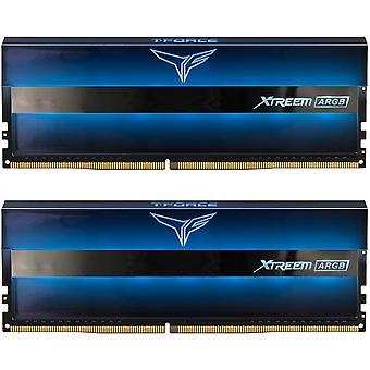 Team T-Force XTREEM ARGB 16GB Zwart koellichaam met ARGB LED's (2 x 8GB) DDR4 4000MHz DIMM Systeemgeheugen