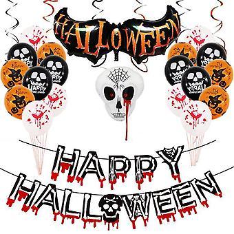 Happy halloween balloon decoration 12-inch skull pumpkin aluminum film