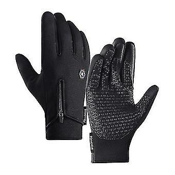 Bicycle bike gloves men women winter cycling gloves three fingers touch-screen fleece windproof waterproof warm outdoors sport gloves