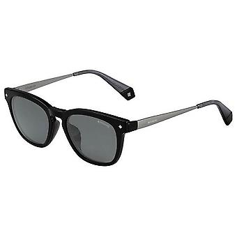 Polaroid Square Sunglasses - Black/Grey