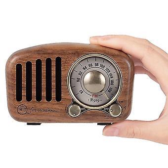 الكلاسيكية الرجعية استقبال المحمولة بلوتوث مكبر الصوت اللاسلكية الصوت SubwooferSpeakers (الجوز)