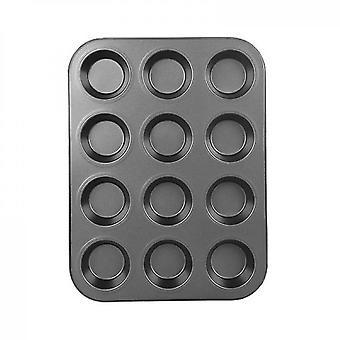 Premium tarttumaton leivonnaiset Standard Muffinssi ja Kuppikakku Pannu (musta)