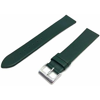 (30mm) Kalf lederen horlogeband groen extra lange chromen gesp 12 mm tot 30 mm