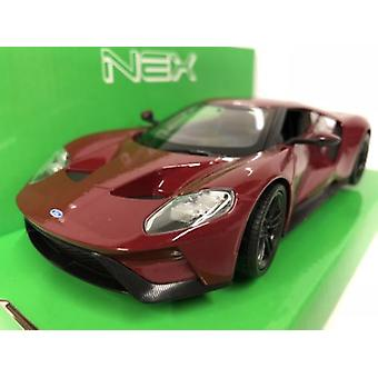 Ford GT Metallic Red 1:24-27 Scale Welly 24082