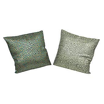 Набор 2 павлиньих перьев печати бросить подушки декоративные