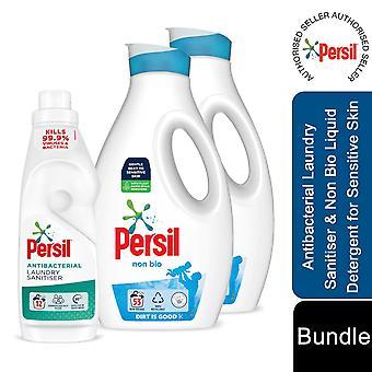 2x53W Persil Non Bio Laundry Liquid Detergent & 12W Persil Laundry Sanitiser