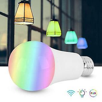 10W smart wifi e27 e26 b22 bulb rgb+cw ac85-260v supports alexa google home iffft voice control app control