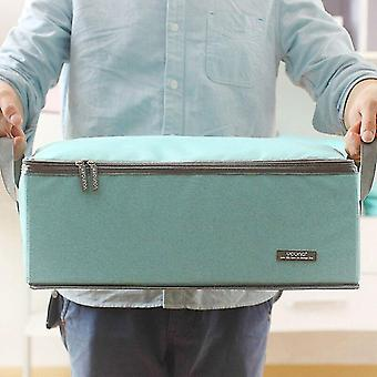 Laundry baskets household cloth collection boxes oxford cloth folding storage box blue