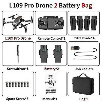 Remote control helicopters l109 pro gps drone 5g wifi 800m fpv with 4k hd camera 2-a xis anti-shake selfstabilizing