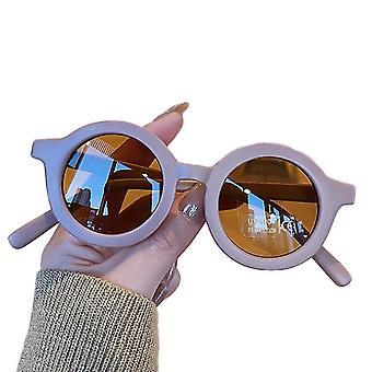 Gafas de sol de color sólido estilo retro para niños (violeta mate)