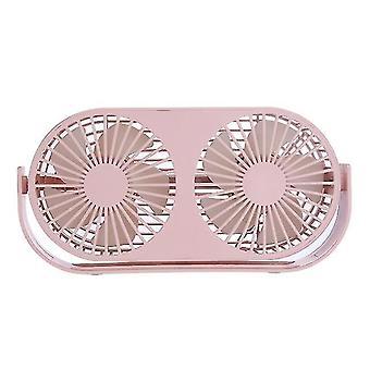 Dubbele bureauventilator kleine tafelventilator draagbare 3 koelsnelheid verstelbare kop 360 graden draaibaar
