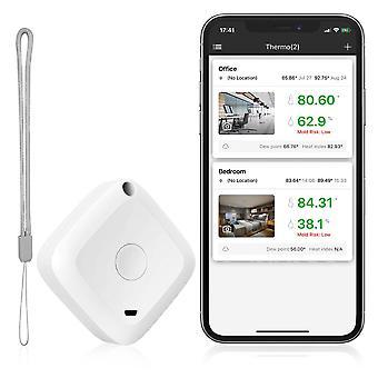Drahtloses Thermometer Hygrometer Sensor Datenlogger Digital C / f Indoor Outdoor Bluetooth Temperatur Feuchtigkeit Meter Alarm