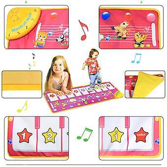 Children Multifunctional Music Game Carpet Music Blanket Piano Musical Mat