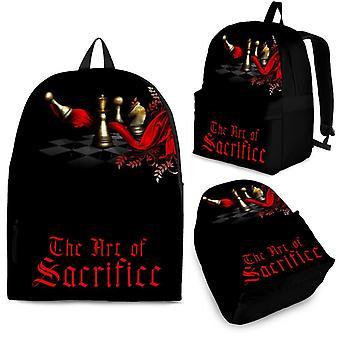 Custom backpack - chess set design #103 the art of sacrifice |3 optional sizes, unisex backpack, mini backpack, kids backpack, mini backpack
