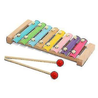 8-note Colorful Aluminum Plate Percussion Early Educational Musical Toy For Toddlers Baby