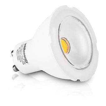 Whitenergy GU10 LED MR16 Light Bulb Single Pack 8W 230V  White Warm 100 Degree