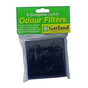 Set van 6 vervanging Filters voor Compost Caddies Bin