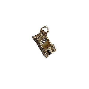 9ct gouden 10x20mm oldtimers hanger