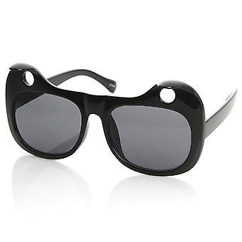 Designer de mode Womens inspiré chicorées chat oreille découpe Cat Eye lunettes de soleil
