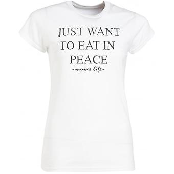 Spoilt Rotten Just Want To Eat In Peace Print Women's T-Shirt