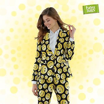 Smileyanzug ladies Funnysuits preppy happy 2 piece suit costume deluxe EU SIZES