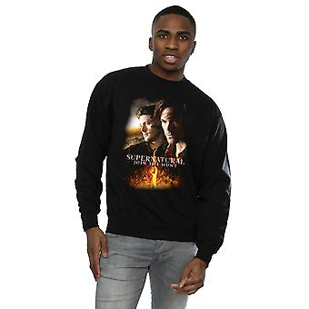 Supernatural Men's Flaming Poster Sweatshirt