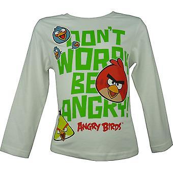 تي شيرت طويل الأكمام الفتيان غاضبون الطيور