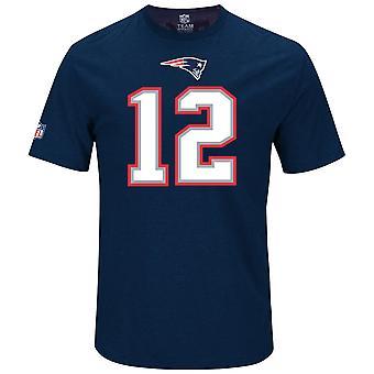 Majestic NFL fan shirt - New England Patriots 12 Tom Brady
