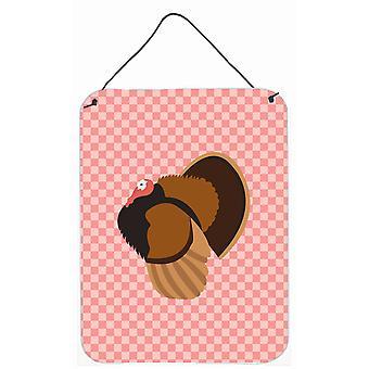 Bronze Turkey Pink Check Wall or Door Hanging Prints