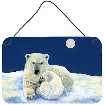 Ursos polares luar Snuggle parede ou porta-impressões de suspensão