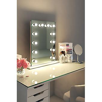 Diamond X Table Top Hollywood Makeup Mirror with Dimmable LED k90sCW