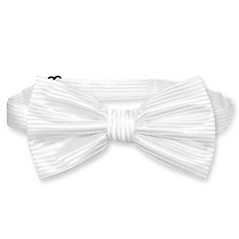 Vesuvio Napoli BOWTie Woven Horizontal Stripe Design Men's Bow Tie