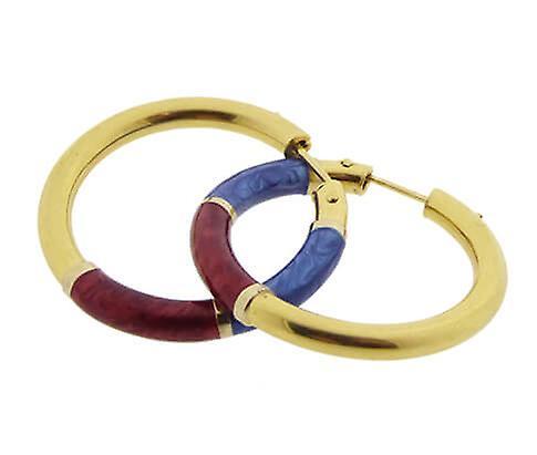 Christian enamel earrings