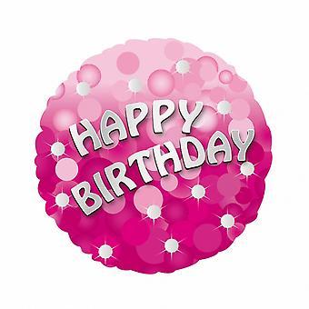 Amscan 18 Inch Happy Birthday Pink Foil Balloon