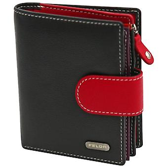 Felda RFID Ladies Coin & Card Purse Wallet Genuine Leather Multi Soft Gift Box