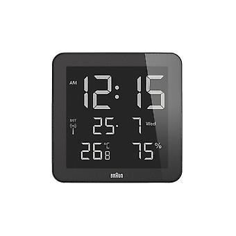 Relógio de parede digital marrom BNC014BK RC 66027