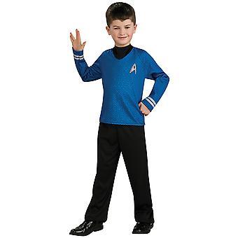 Spock Star Trek film blå skjorte bukser Skoleuniform Dress Up drenge kostume