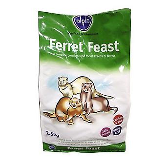 Alpha Ferret Feast Food Mix 2.5kg 2500g