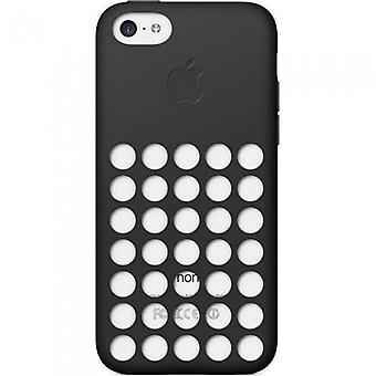 एप्पल MF040ZM/A सिलिकॉन कवर iPhone 5 सी ब्लैक में लिए