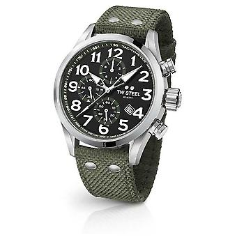 TW Steel de Mens kantine Black Dial Stainless Steel band VS24 Watch