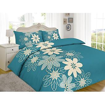 Lynda Flowers Printed Duvet Quilt Cover Floral Bedding Set