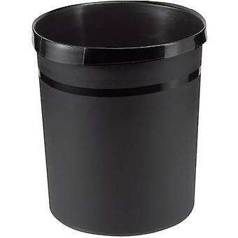 HAN Grip 18190-13 Waste paper basket 18 l (Ø x H) 312 mm x 350 mm Polypropylene Black 1 pc(s)