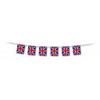 Union Jack dragen een 10m-Run van vierkante, Plastic Union Jack vlag Bunting breedte 30cm